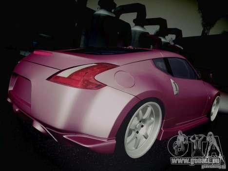 Nissan 370Z Fatlace pour GTA San Andreas vue de dessus