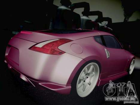 Nissan 370Z Fatlace für GTA San Andreas obere Ansicht