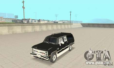 Chevrolet Suburban FBI 1986 für GTA San Andreas Seitenansicht