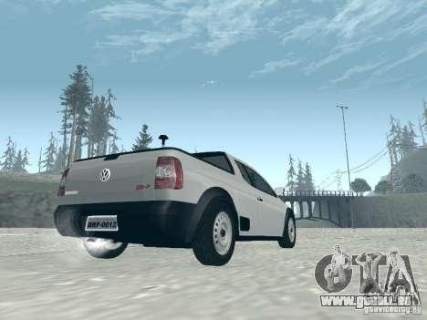 Volkswagen Saveiro 1.6 2009 pour GTA San Andreas laissé vue