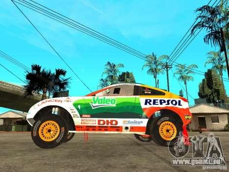 Mitsubishi Racing Lancer from DIRT 2 pour GTA San Andreas laissé vue