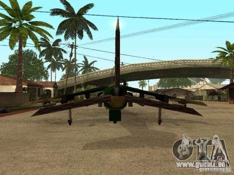 Camouflage pour Hydra pour GTA San Andreas vue arrière
