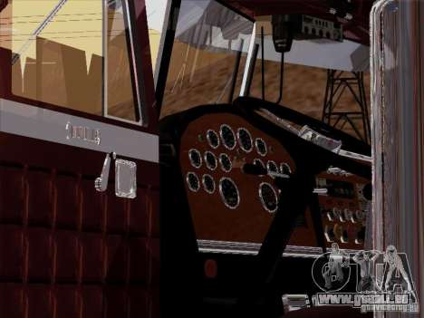 Peterbilt 359 Custom pour GTA San Andreas vue intérieure