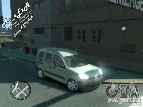Renault Kangoo 2007 pour GTA 4 vue de dessus
