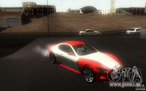 Maserati Gran Turismo S 2011 für GTA San Andreas Seitenansicht