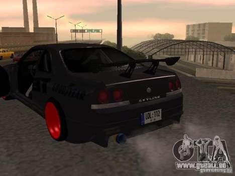 Nissan Skyline R33 für GTA San Andreas Seitenansicht