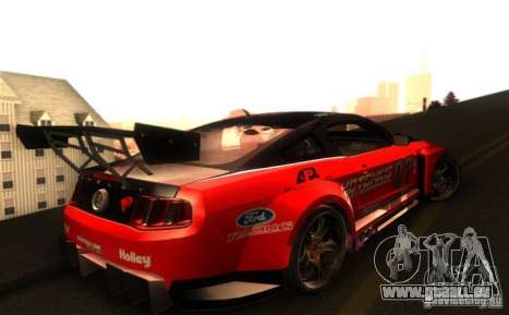 Ford Mustang Shelby GT500 V1.0 pour GTA San Andreas vue intérieure