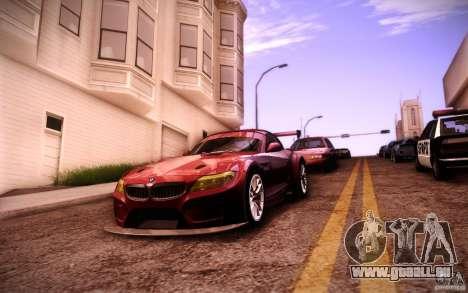 BMW Z4 E89 GT3 2010 pour GTA San Andreas vue de dessus