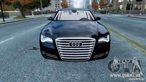 Audi A8 LED 2012 pour GTA 4 est un côté
