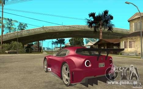 Alfa Romeo 8C GT3 RSX pour GTA San Andreas sur la vue arrière gauche