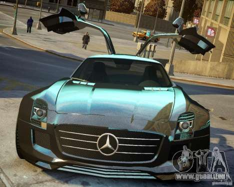 Mercedes SLS Extreme pour GTA 4 est une vue de l'intérieur