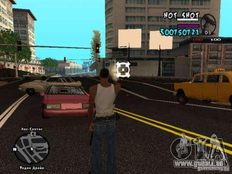 HUD by Hot Shot v.2.2 for SAMP pour GTA San Andreas troisième écran