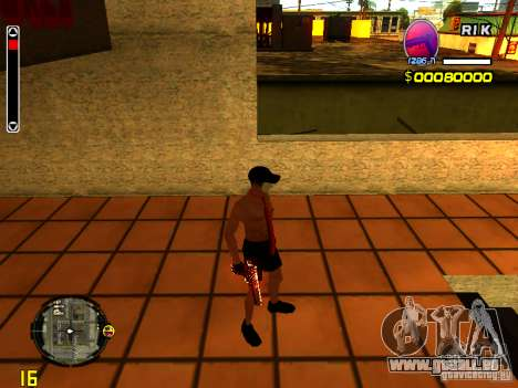 Homme peau plage pour GTA San Andreas quatrième écran
