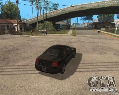 Dodge Charger pour GTA San Andreas vue de droite