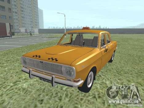Taxi GAZ 24-01 pour GTA San Andreas sur la vue arrière gauche