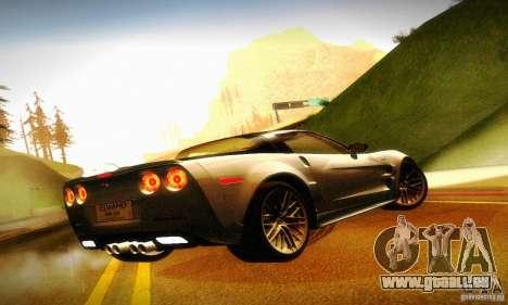 Chevrolet Corvette ZR-1 pour GTA San Andreas vue arrière
