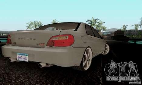 Subaru Impreza WRX STi TUNEABLE pour GTA San Andreas sur la vue arrière gauche