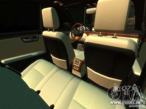 Mercedes-Benz W221 S500 pour GTA 4 est une vue de l'intérieur
