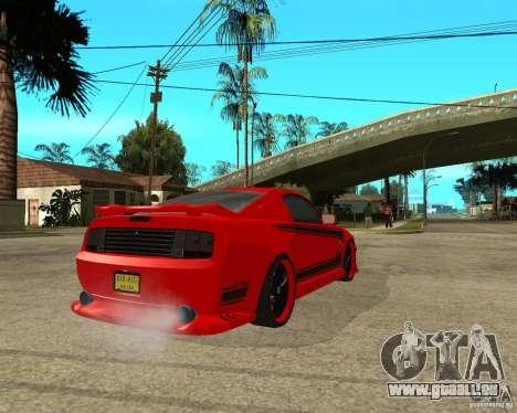 Ford Mustang Red Mist Mobile pour GTA San Andreas sur la vue arrière gauche