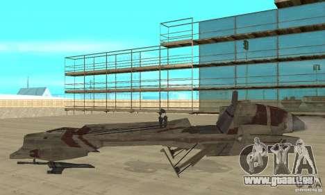 Star Wars speedbike pour GTA San Andreas laissé vue