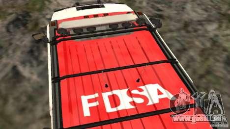 HUMMER H2 Amulance pour GTA San Andreas vue de droite