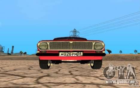GAZ Volga 24 pour GTA San Andreas sur la vue arrière gauche
