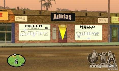 Boutique ADIDAS pour GTA San Andreas