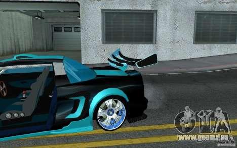 Baby blue Infernus pour GTA San Andreas vue de dessus
