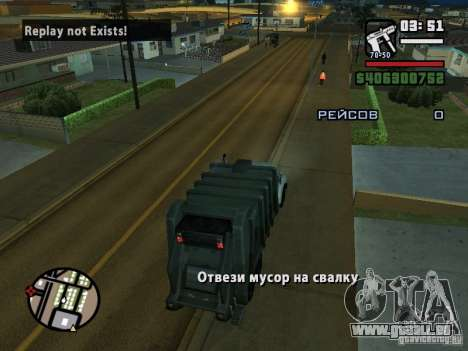 Der Fahrer des LKW für GTA San Andreas dritten Screenshot