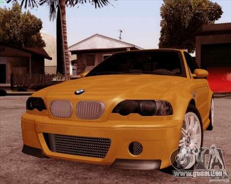 BMW M3 E46 stock pour GTA San Andreas vue intérieure