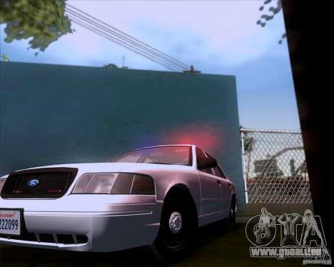 Ford Crown Victoria 2009 Detective für GTA San Andreas Rückansicht