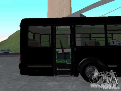 Autobus 6222 pour GTA San Andreas vue intérieure