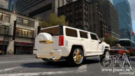 Hummer H3 2005 Gold Final pour GTA 4 Vue arrière de la gauche