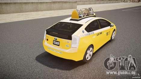 Toyota Prius LCC Taxi 2011 pour GTA 4 est une vue de dessous