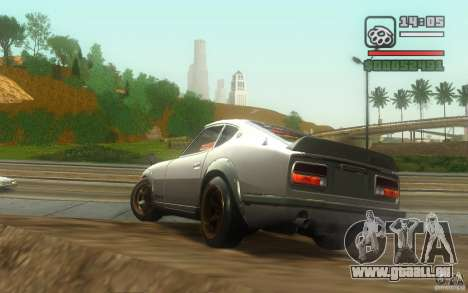 Datsun 240ZG für GTA San Andreas Rückansicht