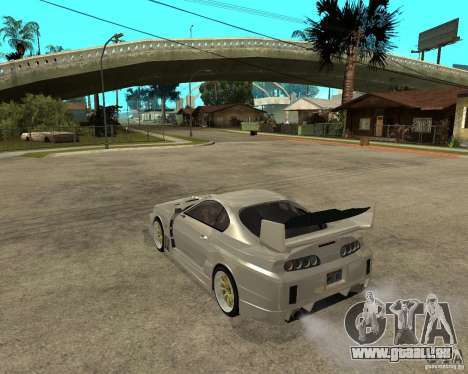 Toyota Supra M4K pour GTA San Andreas laissé vue