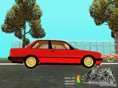 BMW E30 87-91 für GTA San Andreas Rückansicht
