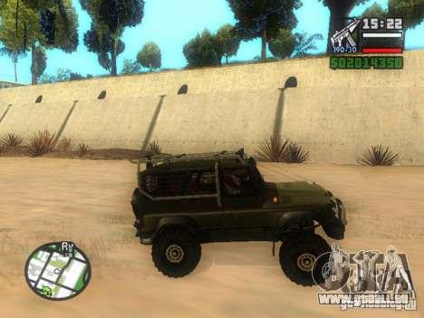 UAZ Hunter pour GTA San Andreas laissé vue