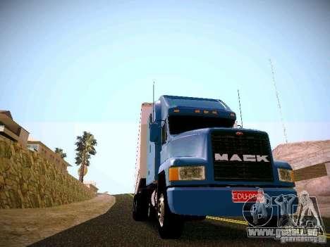 Mack ch 613 für GTA San Andreas zurück linke Ansicht