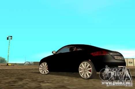 Audi TT 2007 pour GTA San Andreas sur la vue arrière gauche