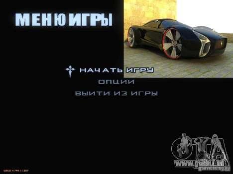 Démarrer écran et menu monde Mishin v2 pour GTA San Andreas sixième écran