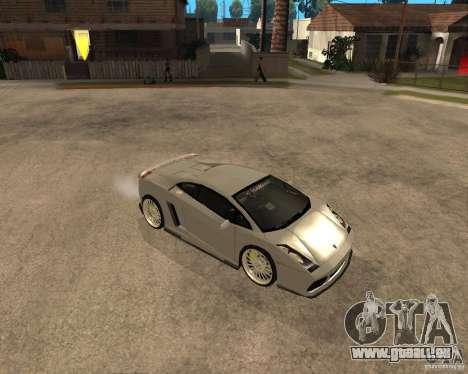 Lamborghini Gallardo für GTA San Andreas zurück linke Ansicht