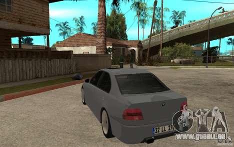 BMW 523i CebeL Tuning pour GTA San Andreas sur la vue arrière gauche