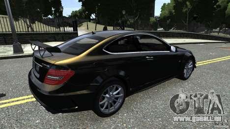 Mercedes Benz C63 AMG Black Series 2012 für GTA 4 Innenansicht