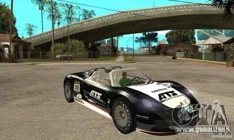 Porsche 918 Spyder pour GTA San Andreas vue arrière