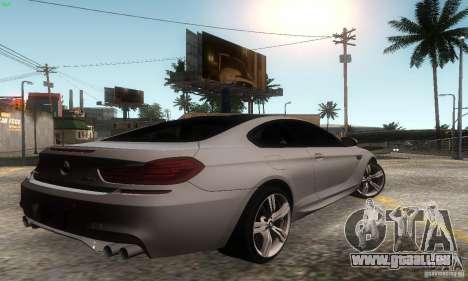BMW M6 Coupe 2013 pour GTA San Andreas laissé vue