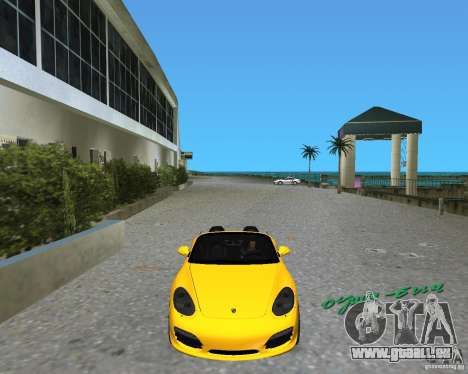 Porsche Boxster 2010 für GTA Vice City linke Ansicht