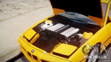 BMW 850i E31 1989-1994 pour GTA 4 est une vue de l'intérieur