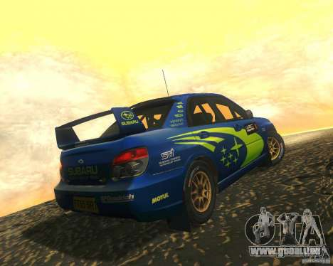 Subaru Impreza WRX STI DIRT 2 pour GTA San Andreas vue intérieure