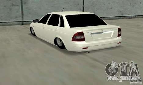 Lada Priora Low pour GTA San Andreas sur la vue arrière gauche